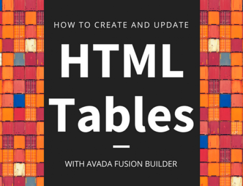 How to build and edit a table with Avada Fusion Builder
